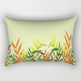 Colored Leaves green - Ilustratin Rectangular Pillow