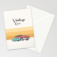 Vintage Car Illustration Stationery Cards