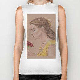 Emma Watson as Belle in Beauty and the Beast Biker Tank