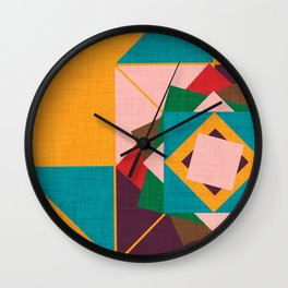 wind rose yellow Wall Clock