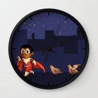 falcon Wall Clocks featuring Falcon by zombietonbo