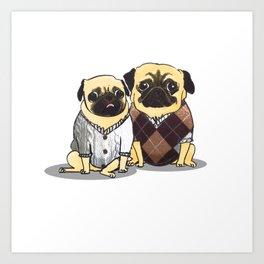 Sweater Pugs Art Print