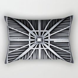 abstract, travel, architecture, vacation, alien lands, island, wood, monochrome Rectangular Pillow