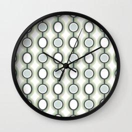 Retro-Delight - Oscillating Ovals (Accent) - Sage Wall Clock