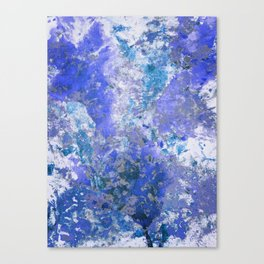 Cornflower Blue Abstract Painting Canvas Print