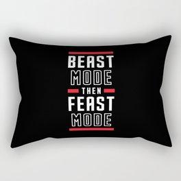 Beast Mode Then Feast Mode Rectangular Pillow