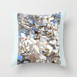 Spring Dogwoods Throw Pillow