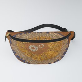 Growing - ginkgo - plant cell embroidery Fanny Pack