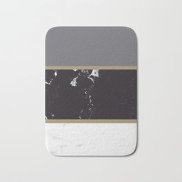 Marble Mix Stripes #1 #black #white #gray #gold #decor #art #society6 Bath Mat