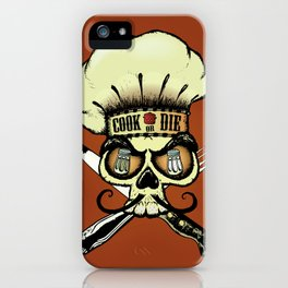 Cook or die!Chef's skull iPhone Case