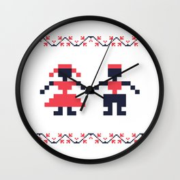 Romanian folk art Wall Clock