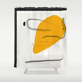 Figurative stain Shower Curtain