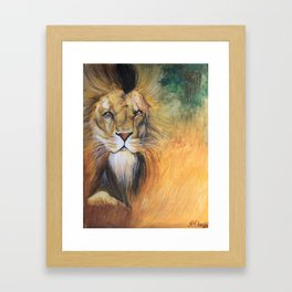 The Lion Framed Art Print