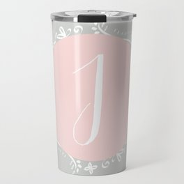 Garland Initial J - Grey Travel Mug