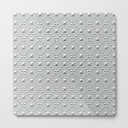 Studded Checkerboard Light on Slate Green Mist 2 Metal Print