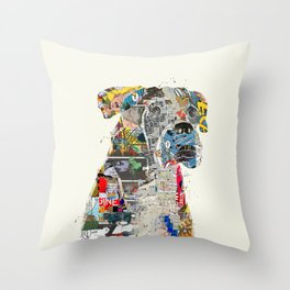 the mod boxer Throw Pillow
