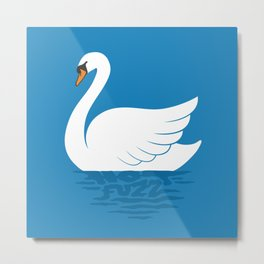 Just The One Swan Actually Metal Print