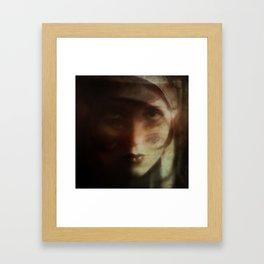 Clara, in Darkness Framed Art Print