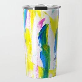 Paint Smears Colorful Abstract Travel Mug