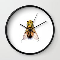 insects Wall Clocks featuring Insects & Bugs by Cellar Door Photography