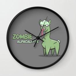 Zombie Alpacalypse Wall Clock