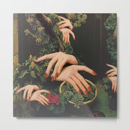 Touch Plants Metal Print