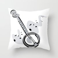banjo Throw Pillows featuring Banjo by shopaholic chick