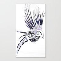 maori Canvas Prints featuring Colibri Maori by La Loutre
