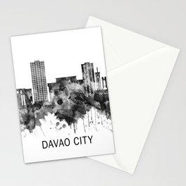Davao City Philippines Skyline BW Stationery Cards