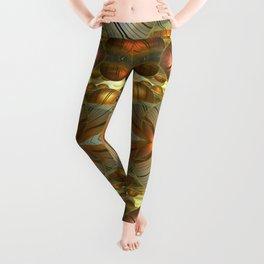 Golden Globes / /  #fractal #fractals #3d Leggings