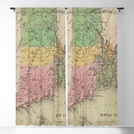 Native American Tribes and Territories of Pre-Colonial Rhode Island and Southern New England Vintage Blackout Curtain
