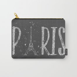 PARIS Typography | grey | silver splashes Carry-All Pouch