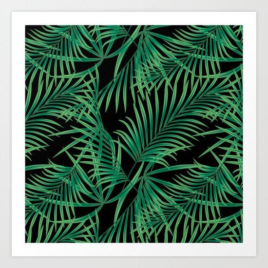 Tropical pattern. Art Print