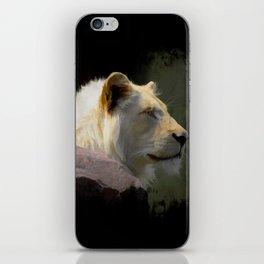 Regal White Lion iPhone Skin