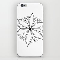 compass iPhone & iPod Skins featuring Compass by Cecilie