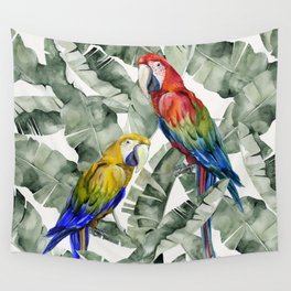 PARROTS IN THE JUNGLE Wall Tapestry