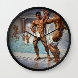 Bathhouse Boys Wall Clock