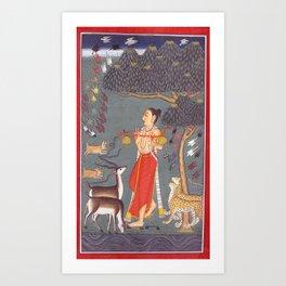 Ragamala Painting 3 Art Print