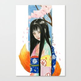 Kitsune Kit Canvas Print