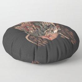 Aztec Eagle Warrior Floor Pillow