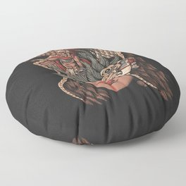 Aztec Eagle Warrior Floor Pillow