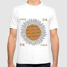 Calendar 2014 - Sunflower MEDIUM White Mens Fitted Tee