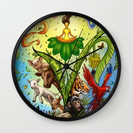 Vegan for them Wall Clock