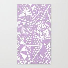 Lavender Wild Triangle Pattern Canvas Print