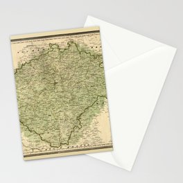 Map Of Bohemia 1843 Stationery Cards