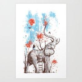 A Happy Place Art Print