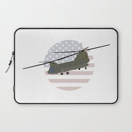 Military CH-47 Chinook Helicopter Laptop Sleeve
