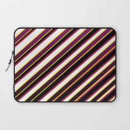 TEAM COLORS 1...Purple ,fade to black, gold red Laptop Sleeve