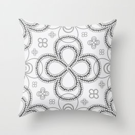 Innocent Braids Throw Pillow