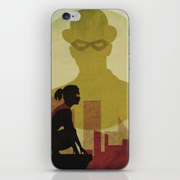 Who is the man in the bowler? Superheroes SF iPhone Skin
